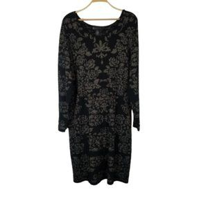 Lane Bryant Sparkly Paisley Knit Shift Dress